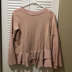 Light pink ruffled shirt